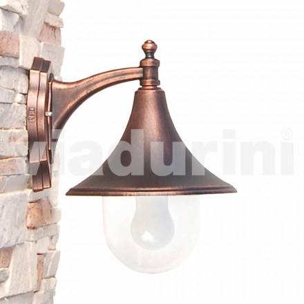 Vägglampa utomhus tillverkad med gjuten aluminium, tillverkad Italien, Anusca