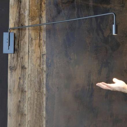 Utomhus vägglampa i järn med justerbar LED Made in Italy - Forla