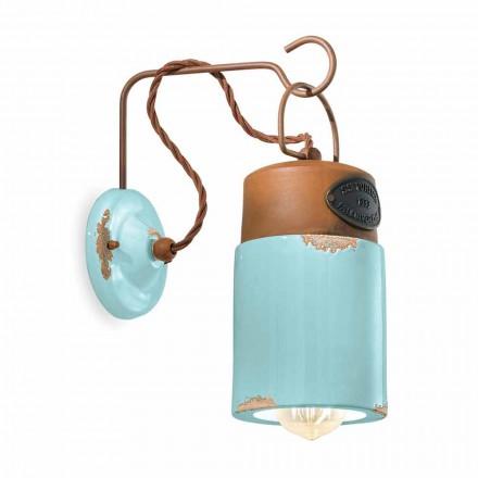 Vägglampa i keramik och järn rostar Desiree Ferroluce