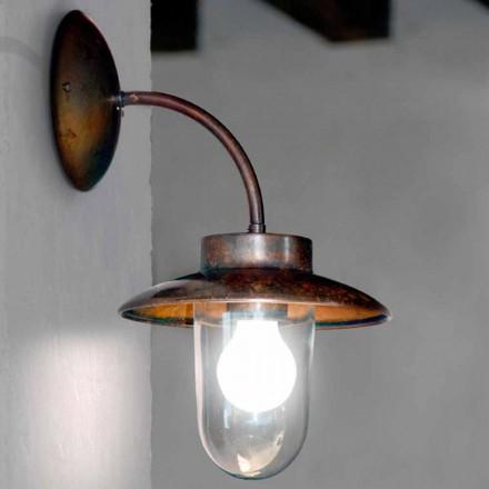 Vägglampa La Traviata koppar, glas, antik mässing