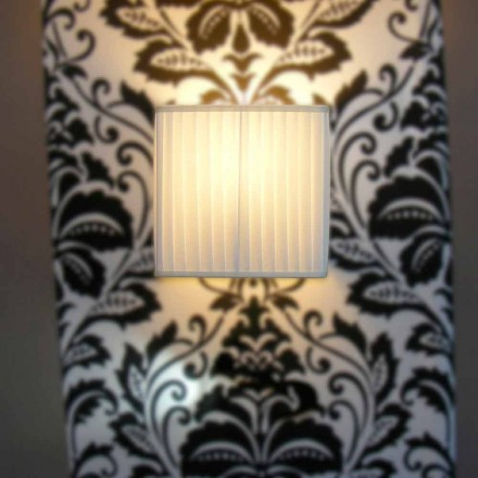 Modern vägglampa i bambu silke, elfenben färg