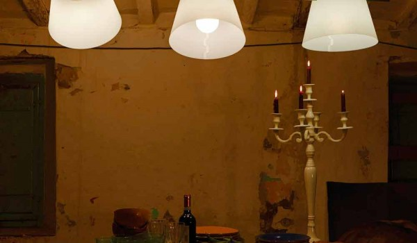 Lampa 3 lampor modern design, L.150xP.32cm, Gemma