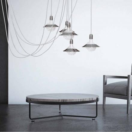 Krom hänglampa med 5 lampor, modern design