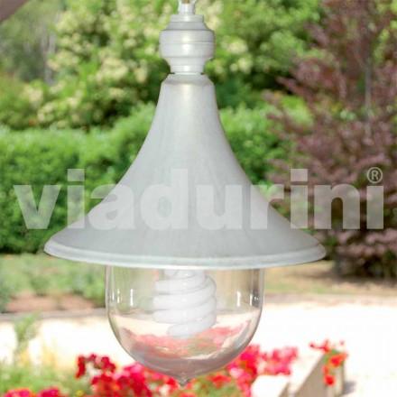 Utomhus pendellampa tillverkad med vit aluminium, tillverkad Italien, Anusca