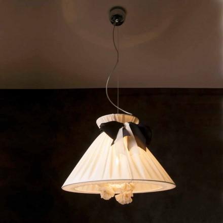 Vintage design hänge lampa i Chanel silke