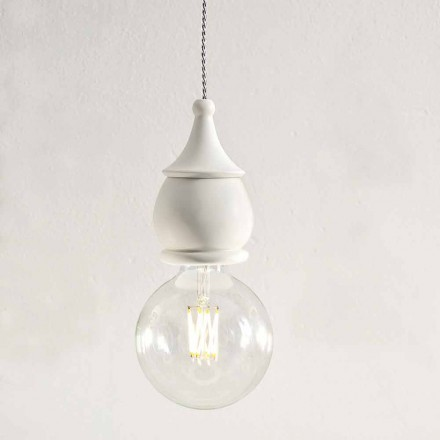 Shabby Chic Ceramic Suspension Lamp - Öde av Aldo Bernardi