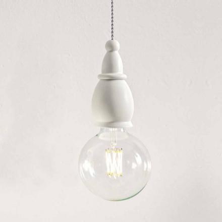 Shabby keramisk lampa tillverkad i Italien - Öde av Aldo Bernardi