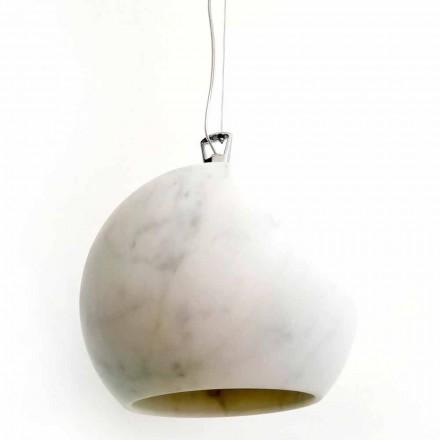 Design upphängningslampa i vit Carrara marmor tillverkad i Italien - Panda