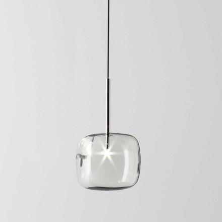 Design upphängningslampa i metall och glas Tillverkad i Italien - Donatina