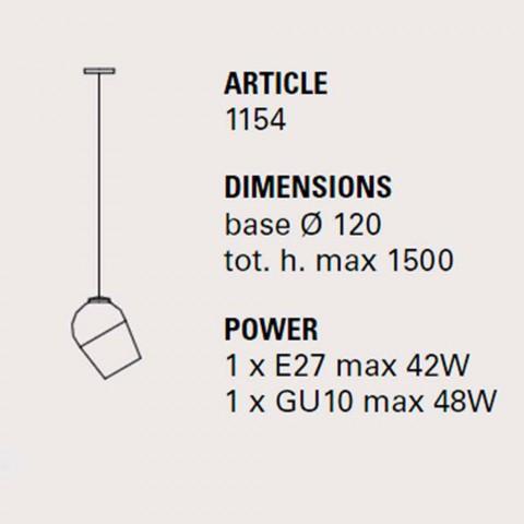 Design metall hänglampa Magnet - Toscot