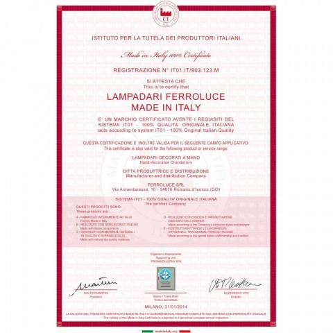 Design taklampa rustik dekorerade Ferroluce Napoli