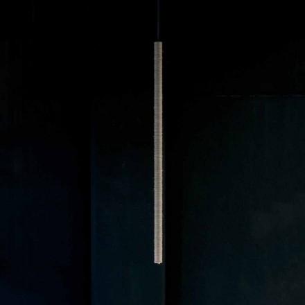 Upphängningslampa i aluminium täckt i rep tillverkad i Italien - Ginia