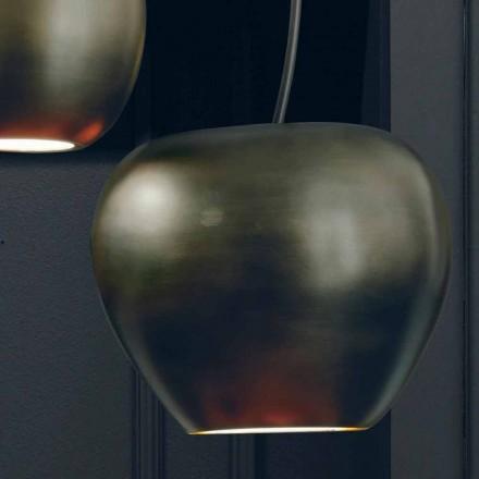 Körsbärsformad keramisk upphängningslampa tillverkad i Italien - körsbär