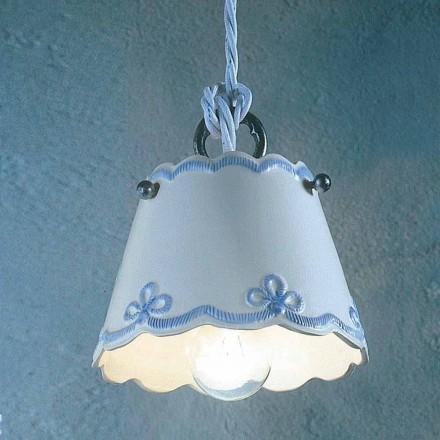 Lampa keramiska lampa med färgade band Ferroluce