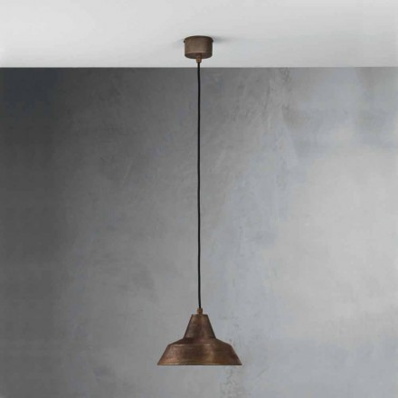 Lampa antik järn suspension bell Virginia Il Fanale