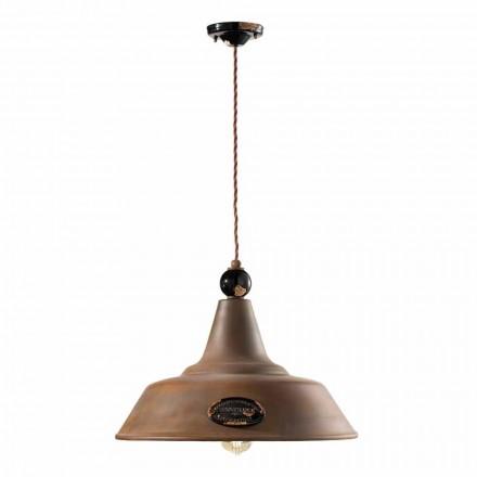 Lampa järn och keramik suspension corten Lois Ferroluce