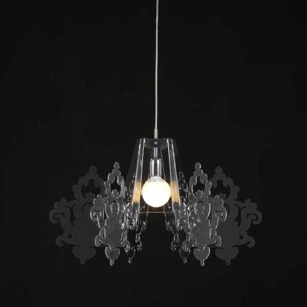 Lampa tillverkad av färgad metakrylat upphängnings Alessia, diameter 70 cm