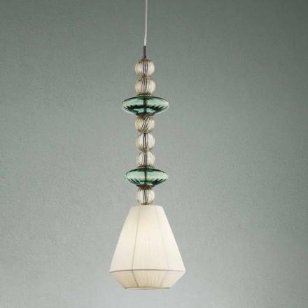 Upphängningslampa i Venedig Glas Handgjord Tillverkad i Italien - Amilia