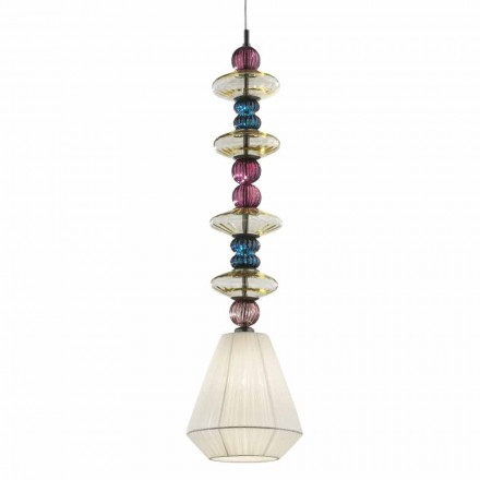Venedig glashänglampa, handgjord i Italien - Amilia