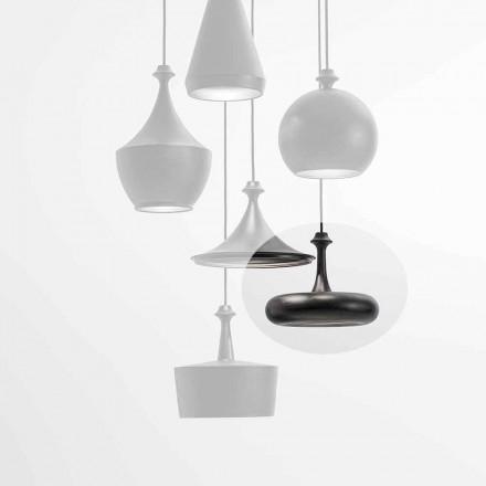 LED-upphängningslampa Tillverkad i Italien i keramik - L4-paljetter Aldo Bernardi