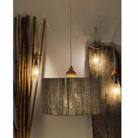 Modern 4 lampor hänglampa med Bois trä del