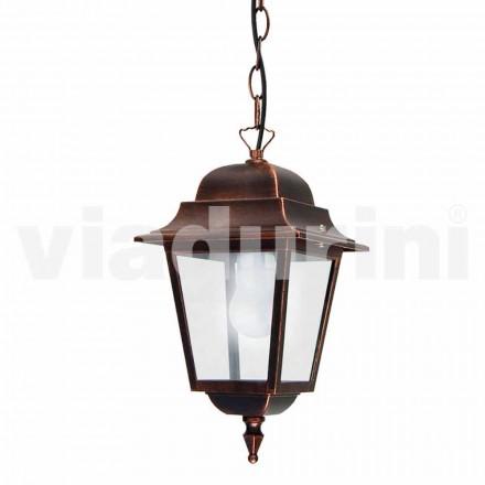 Utomhus hänglampa tillverkad av aluminium, tillverkad i Italien, Aquilina