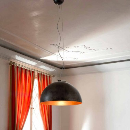 Lampa liten suspension i Moonlight Steel