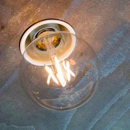 Handgjord infälld lampa i vit aluminium tillverkad i Italien - Frana