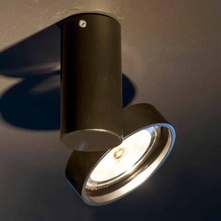 Handgjord aluminiumlampa med justerbar ring tillverkad i Italien - Gemina
