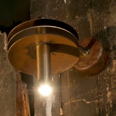 Handgjord lampa i järncorten och mässingsfinish tillverkad i Italien - Solano