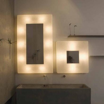 Design vägglampa med spegel In-es.artdesign Ego i nebulit
