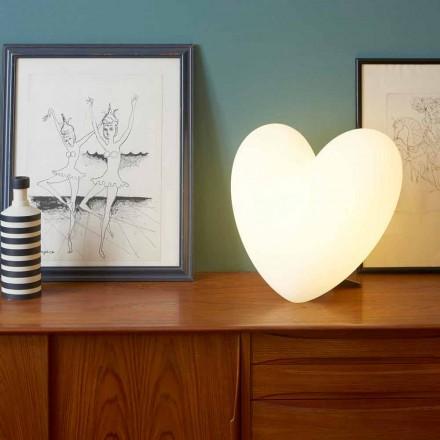 Färgad Slide Kärlek bordslampa hjärta gjord i Italien