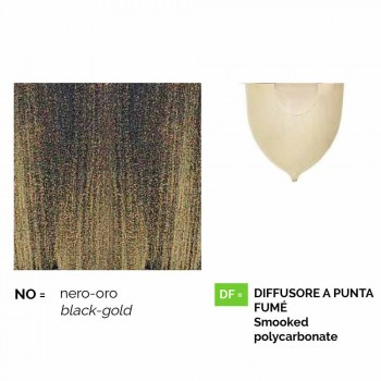 Utomhuslampa i gjuten aluminium tillverkad i Italien, Anusca