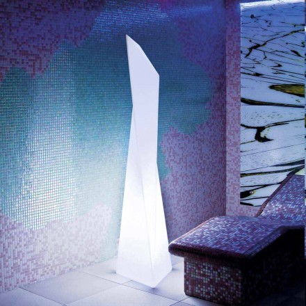 Prisma vit utomhus lampa Slide Manhattan, gjord i Italien