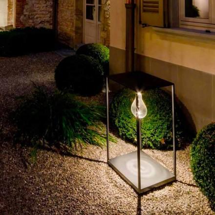 Handgjord järn utomhuslampa med integrerad LED tillverkad i Italien - Cubola