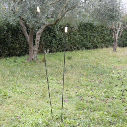 Utomhuslampa i målat järn Minimal design tillverkad i Italien - Filo