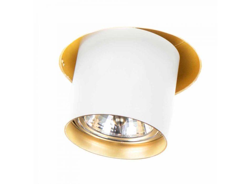 Artisan infälld lampa i justerbar aluminium tillverkad i Italien - Adra