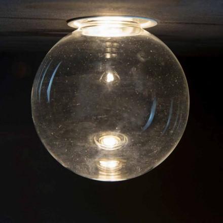 Infälld aluminiumlampa med dekorativt glas tillverkat i Italien - Ampolla