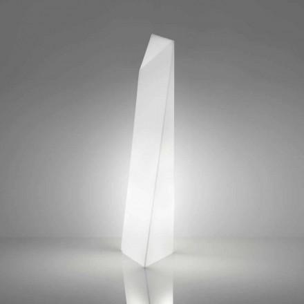 Moderna vita prismaglampa Slide Manhattan, tillverkad i Italien