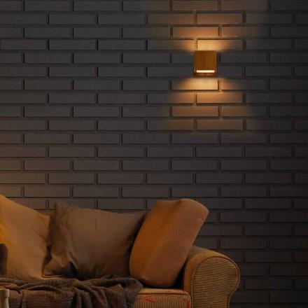 Lampa konstruktion vägg i mässing och stål 11xH11xsp.10 cm Venus