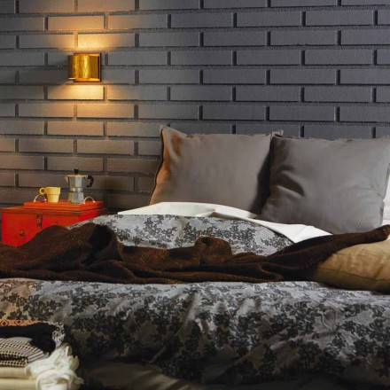 Modern vägglampa i mässing och rostfritt 11x H11xsp.12 cm Bernadet