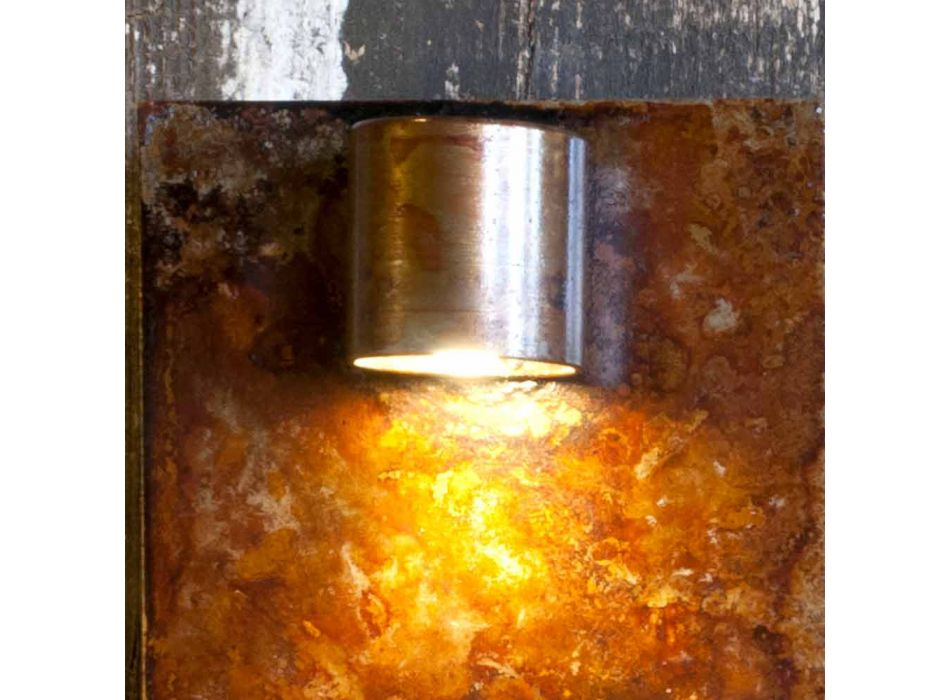 Artisan vägglampa i Iron Corten Finish Made in Italy - Cialda