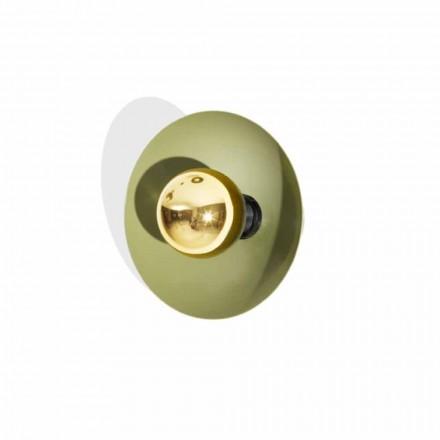 Modern design vägglampa i metall med guld dekoration tillverkad i Italien - Valta