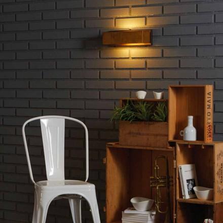 Lampa designvägg av mässing och rostfritt 35xH 10xsp.9 cm Harya
