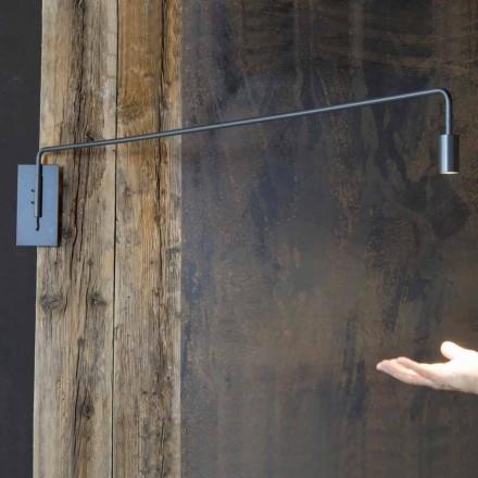 Handgjord vägglampa med järnkonstruktion tillverkad i Italien - Solana
