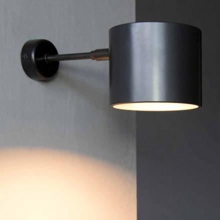 Vägglampa i järn och hantverksaluminium tillverkad i Italien - Trema