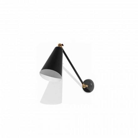Vägglampa i metall med detaljer i guldfinish Tillverkad i Italien - Zaira