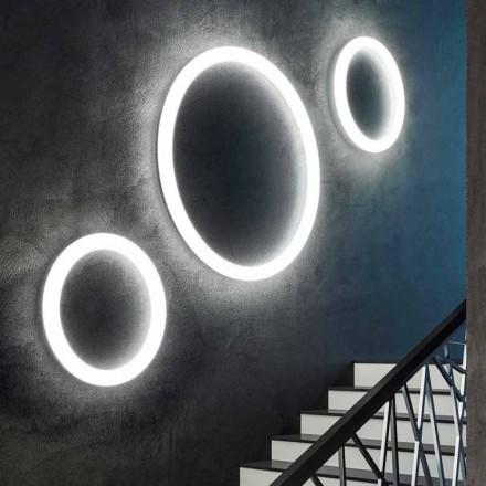 Modern rund LED-vägglampa tillverkad i Italien i polyeten - Slide Giotto