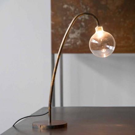 Handgjord järnbordslampa guldfinish tillverkad i Italien - Ribolla