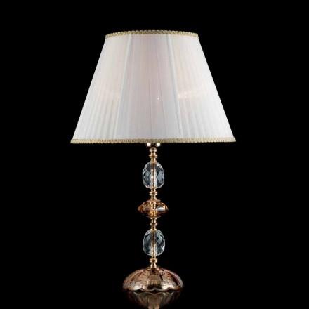 Traditionell bordslampa i kristall och glas Fine, tillverkad i Italien